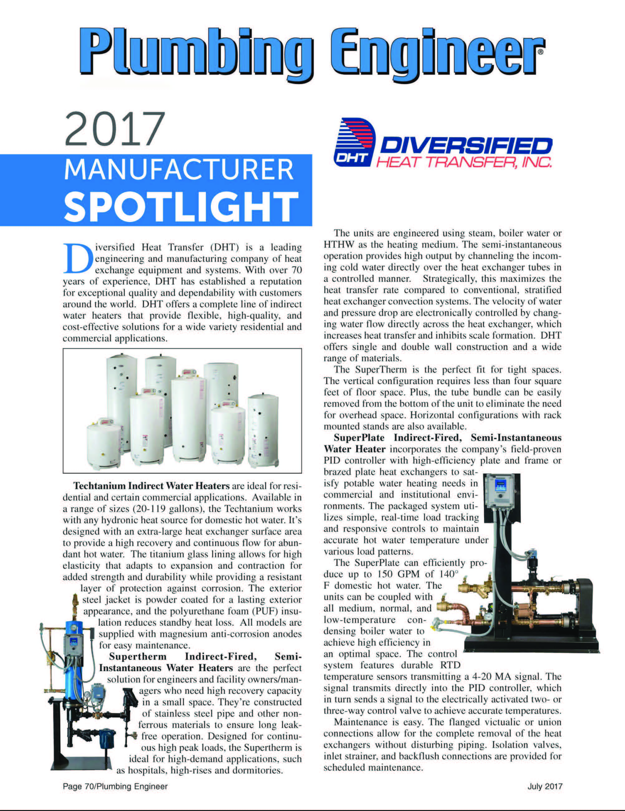 Plumbing Engineer Manufacturer Spotlight